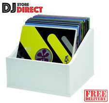 Glorious Record Box Advanced 110 LP Vinyl Record Storage DJ WHITE FREE P&P