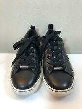 Women's Earth Zag Black Leather Lace-up Sneakers Size 6