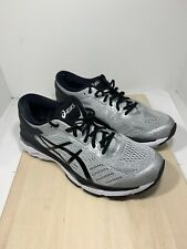 ASICS GEL-KAYANO 24 Mens Silver Black Mid Grey Athletic Running Shoes Size 9