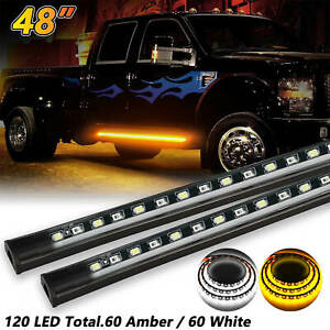 "2pcs 48"" Running Board LED Light Strip Side Step Bar For Chevy Dodge GMC Jeeps"