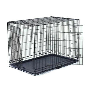 """VEBO 48"""" Collapsible Metal Wire Dog Crate (XXL)"""