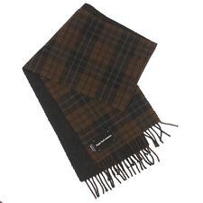 "RUGBY NORTH AMERICA Brown Plaid Scarf Wool Blend Fringe 72"" x 11 1/2"""