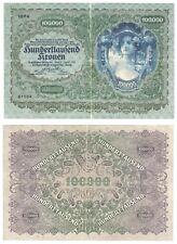 More details for austria 100,000 kronen banknote (1922) p.81 - vf.