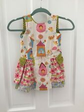 Jelly the Pug Birdie Dress (Size 4T) with Matching Doll Dress