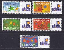 FRANCE  PERSONNALISE N° 3722A à 3726A ** MNH, GB, Logo Timbres Personnalisés, TB
