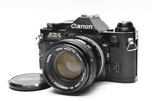 [Exc+5] Canon AE-1 Program 35mm AE-1P SLR Film Camera w/ FD 50mm f/1.4 s.s.c