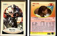 Mike Dyal Signed 1990 Fleer #252 Card Los Angeles Raiders Auto Autograph