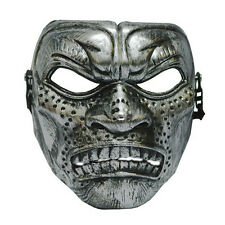Silver Warrior Titan Mens burnished Venetian masquerade mask masked ball Spartan