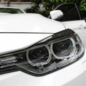 New Carbon Fiber For 2013-2017 BMW 3-Series F30 328 320 Headlight EyeLid Eyebrow