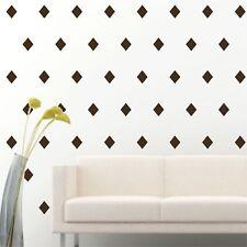 "4"" Set of 96 Brown Diamond Shape Wall Decal Vinyl Sticker Wall Pattern Decor"
