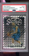 1996-97 Topps Finest #253 Stephon Marbury REFRACTOR ROOKIE RC PSA 8 Graded Card