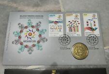MALAYSIA PENGERUSI ASEAN CHAIRMAN 2015 FDC + Original Nordic Gold Coin