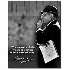 Green Bay Packers Vince Lombardi Measure Of A Man Retro Decor Metal Tin Sign New