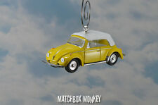 1975 Classic Volkswagen Super Beetle Convertible Christmas Ornament VW Bug 1/64