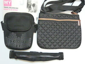 LOT of 3 x  My TAGALONGS neoprene waist bag+ Crossbody bags +slim expandable bag