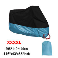 Blue XXXXL Motorcycle Motorbike Waterproof Cover Heavy Duty Winter Outdoor Rain
