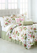 quilt comforter set queen size bedding 4 pieces garden floral multi color new - Waverly Bedding