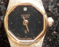 Vtg Citizen Women's Gold Tone Watch 3220 320514 YO Base Metal YP 3062036 32-522