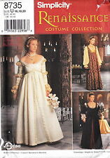 Medieval Renaissance Princess Dress Gown Costume Plus Size 16-20 Sewing Pattern
