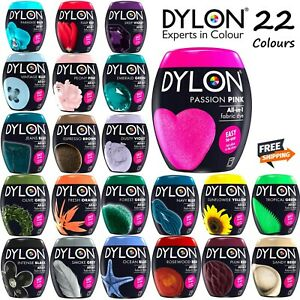 Dylon Washing Machine / Hand Fabric & Clothes Dye Pod 350g Powder 22 Colours