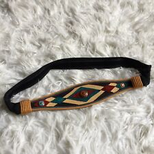 Vintage 90s Carolyn Tanner Womens Belt Native American South Western Style Aztec