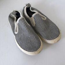 Stella Mccartney for Kids Blue White Striped Slip-Ons Shoes Sneakers Kids Sz 28