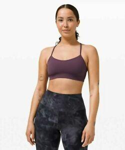 Lululemon Women's Flow Y Bra Grape Thistle Purple NWT Size 4 Sports Bra
