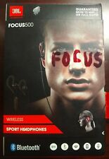 JBL Focus 500 (JBLFOCU500BLK) In-Ear Wireless Bluetooth Sport Headphones Earbuds