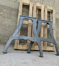 Cast iron machine legs for dining or kitchen vintage industrial table gunmetal