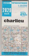 Carte Topographique IGN Charlieu 2829 Est