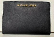 Michael Kors Portafoglio Carry All Bifold saffiano Pelle Nero Medio