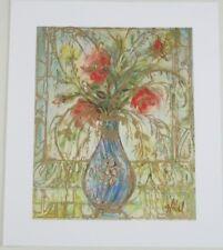 Vintage Original Lithograph Wedgewood Vase by Edna Hibel Listed