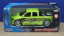 Maisto 31984 1:27  2002 Dodge Ram Quad Pickup Low Motion Green MIB 2003