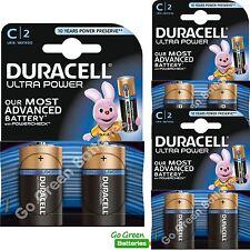 6 x Duracell C Size Ultra Power Alkaline Batteries Duralock (LR14, MN1400, BABY)
