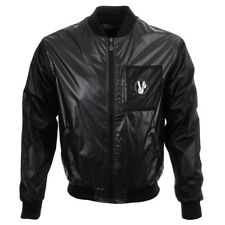 Versace Jeans Noir Nylon Veste Aviateur Taille UK 38/IT 48