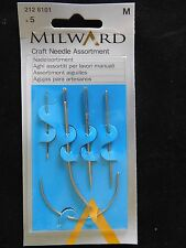 Milward Craft Needle Assortment - Chenille-Leather-Sail-Curved-Curved Mattress