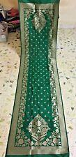 Indian Bridal Wedding Banarasi Jacquard Silk Dupatta Veil Stole Shawl Sari Scarf
