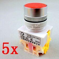 5x rouge momentané-ON N/commutateurs de bouton poussoir O 600V 10a 22mm Y090