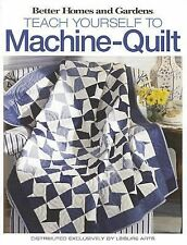 Better Homes and Gardens Teach Yourself to Machine Quilt Book by Corpora