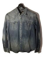 Vintage RRL Double RL Ralph Lauren Pearl Snap Western Denim Shirt -Men's XXL