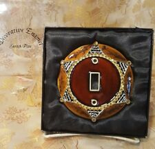 Enamel Single Toggle Light Switch Plate Cover