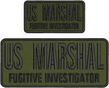US MARSHAL FUGITIVE INVESTIGATOR  EMB PATCH 4.75X11&3X6 HOOK ON BACK /OD