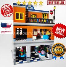 Building Blocks The Brickstive City MOC Sets The Hill Tavern Model DIY Kids Toys