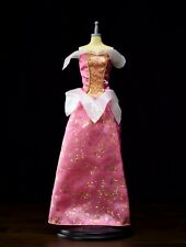 Barbie doll Pink Iridescent GOLD SPARKLE GOWN Dress Fairy Princess Clothes