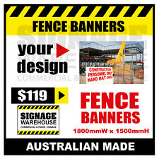Custom Outdoor Fence Mesh Banner Sign Wrap - 1800mmW x 1500mmH Signage Warehouse