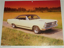1966 Ford Fairlane GTA 2 dr ht car print (yellow & black)