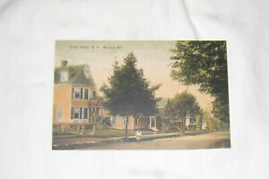 """1908 SPRING VALLEY NY PHOTO POSTCARD """"MADISON AVE"""" CHILD STANDING IN ROAD in fro"""