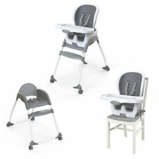 Ingenuity Smart Clean Trio 3-in-1 High Chair Feeding Seat for Baby 6m+ Slate/Grey 12565
