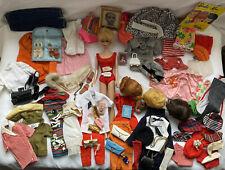 Vintage 1960's Barbie Doll Lot Bubblecut,Fashion Queen Head,Wigs,Case, Clothes +