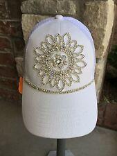 NEW women's white bling trucker hat. Baseball hat. cap. hat. bling